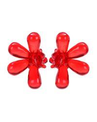 Simone Rocha - Red Clip-on Earrings - Lyst