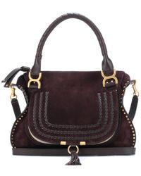 Chloé - Brown Marcie Medium Suede Shoulder Bag - Lyst