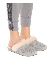 Ugg - Gray Aira Sunshine Suede Slippers - Lyst
