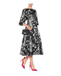 Co. - Black Floral Jacquard Dress - Lyst