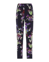 Isabel Marant - Blue Isley Floral-printed Silk Trousers - Lyst