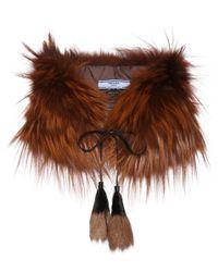 Prada - Brown Fur Stole - Lyst