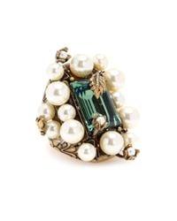 Gucci - Metallic Embellished Ring - Lyst