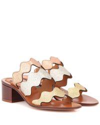 Chloé - Multicolor Lauren Leather Sandals - Lyst