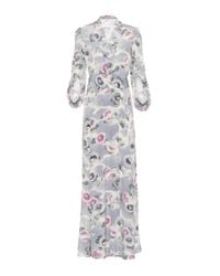 Co. - Multicolor Floral-printed Silk Dress - Lyst
