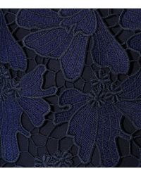 Tory Burch - Blue Nicola Lace Minidress - Lyst