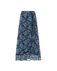 Ganni - Blue Flynn Lace Skirt - Lyst