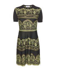 Valentino - Green Jacquard Dress - Lyst