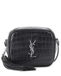 Saint Laurent - Black Monogram Blogger Leather Shoulder Bag - Lyst