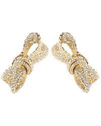 Dolce & Gabbana - Metallic Crystal-embellished Clip-on Earrings - Lyst