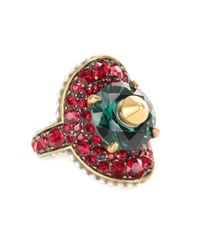 Gucci - Multicolor Crystal-embellished Ring - Lyst