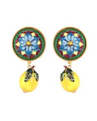 Dolce & Gabbana - Multicolor Lemon Clip-on Resin Earrings - Lyst