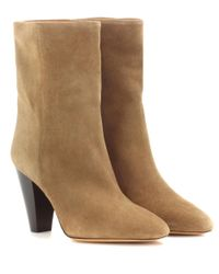 Isabel Marant | Brown Toile Darilay Suede Ankle Boots | Lyst