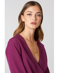 NA-KD   Metallic Double Crescent Pendant Necklace   Lyst
