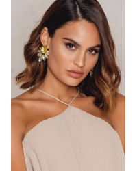 NA-KD - Yellow Bigger Diamond Earrings - Lyst