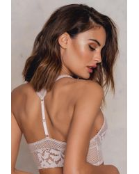 Free People | Pink Corsets Racer Bralette | Lyst