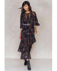 Free People | Black Spirit Of The Wild Maxi Dress | Lyst