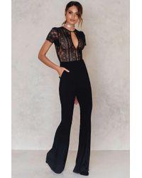 For Love & Lemons - Black Elsa Lace Bodysuit - Lyst