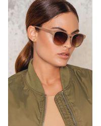 NA-KD - Natural Cream Sunglasses - Lyst