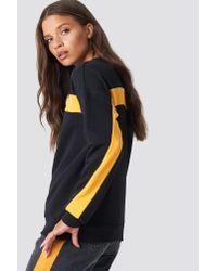 NA-KD - Blocked Sleeve Sweatshirt Black - Lyst