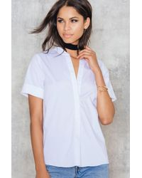 Just Female | White Hanna Ss Shirt | Lyst