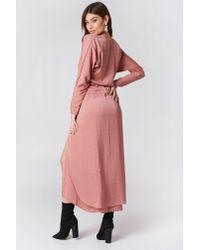 Filippa K Drapey Wrap Dress in Pink - Lyst d0b0e9dc3422