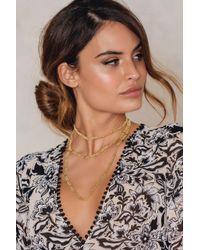 NA-KD - Metallic Long Flat Chain Necklace - Lyst