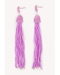 NA-KD - Pink Coloured Beads Tassel Earrings - Lyst