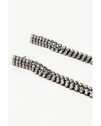 NA-KD - Hanging Rhinestone Earrings Black - Lyst