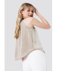 Trendyol - Multicolor Ruched Neck Top Stone - Lyst