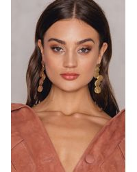 NA-KD - Metallic Melted Circle Earrings - Lyst