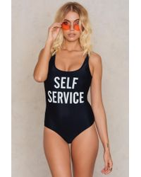 Trendyol - Black Self Service Swimsuit - Lyst