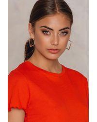 NA-KD   Metallic Square Hoop Earrings   Lyst