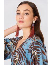 Mango - Orange Tassel Earrings - Lyst