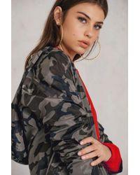 NA-KD - Multicolor Camo Rain Coat - Lyst