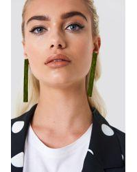 NA-KD - Green Colorful Bar Earrings - Lyst