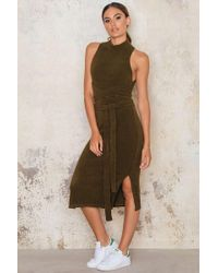 Lavish Alice | Green Open Back Wrap Tie Dress | Lyst