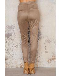 NA-KD - Multicolor Suede Lacing Pants - Lyst