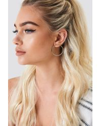NA-KD - Metallic Front Circle Earstuds - Lyst