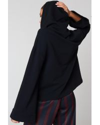 NA-KD - Black Wide Sleeve Hoodie - Lyst
