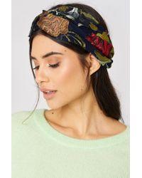 Mango - Blue Flower Hairband - Lyst