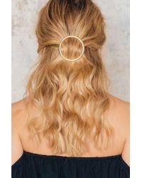 NA-KD   Metallic Big Circle Hair Clip   Lyst
