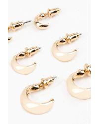 NA-KD - Metallic 3-pack Round Earrings - Lyst