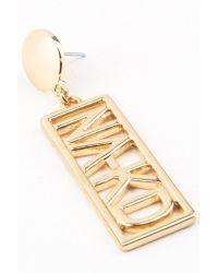 NA-KD - Metallic Earrings - Lyst