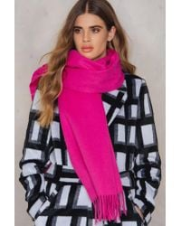 Just Female - Pink Clive Scarf - Lyst