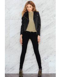 Just Female - Black Came Zip Jacket - Lyst