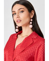 NA-KD - Pink Sequin Triple Globe Drop Earrings - Lyst