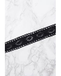 NA-KD - Black Patterned Crochet Choker - Lyst