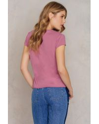 NA-KD - Pink Your Loss Babe Tee - Lyst