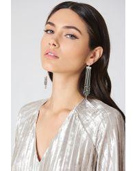 NA-KD - Metallic Beaded Chain Tassle Earrings - Lyst